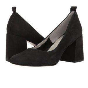 1. State Madene Black Suede Block Heel Pump 8.5